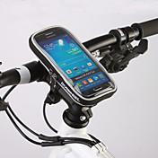 ROSWHEEL 자전거 가방자전거 핸들바 백 방수 지퍼 방습 충격방지 착용할 수 있는 싸이클 가방 PVC Terylene 싸이클 백Samsung Galaxy S6 Samsung Galaxy S4 iphone 4/18S Iphone 6/IPhone