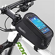 ROSWHEEL 자전거 가방 1.5L자전거 프레임 백 방수 지퍼 착용할 수 있는 방습 충격방지 싸이클 가방 PVC 메쉬 Terylene 싸이클 백iphone 4/18S Samsung Galaxy S19 Samsung Galaxy S6 edge
