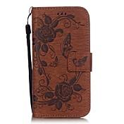 아이폰 6 / 6S / 6 플러스 / 6S를 PU 가죽 지갑 케이스를 인쇄 나비 패턴 플러스 (모듬 색상)