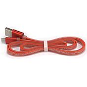 USB 2.0 Micro USB 2.0 Plano Normal Cable Para Samsung Huawei Sony Nokia HTC Motorola LG Lenovo Xiaomi 100 cm TPU PVC