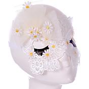 Lace Mask 1 개 휴일 장식 파티 마스크 멋진 / 패션 원사이즈 화이트 레이스