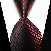 클립 타이 패션 블랙 / 레드 패브릭 남성 Tie Bar-1PC