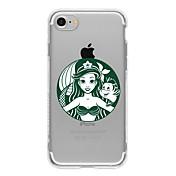 Para Funda iPhone 7 / Funda iPhone 7 Plus / Funda iPhone 6 Diseños Funda Cubierta Trasera Funda Dibujos Suave TPU AppleiPhone 7 Plus /