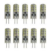 1w 80-120lm 디 밍이 가능한 실리콘 g4 led 전구 크리스탈 램프 12v DC 24 smd 3014 화이트 / 웜 화이트 (10 pcss)