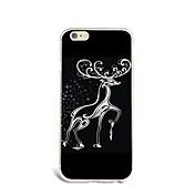 Para Funda iPhone 7 Funda iPhone 6 Funda iPhone 5 Carcasa Funda Ultrafina Diseños Cubierta Trasera Funda Navidad Suave TPU para Apple