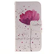 스탠드와 카드 홀더 / 지갑 / 위해 / 플립 / 패턴의 경우 몸 전체 케이스의 꽃을 하드 PU 가죽 삼성 J3 /의 J3 (2016)