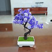 Set of 1 PCS 1 Rama Poliéster Plantas Flor de Mesa Flores Artificiales Long 9.4(inch)