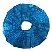 1pcs nuevos diseños del pulimento de bricolaje herramientas placas de los modelos del sello del arte del clavo estampado de uñas uñas