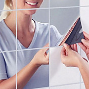 미로스 벽 스티커 거울 벽스티커 데코레이티브 월 스티커,PVC 자료 이동가능 홈 장식 벽 데칼