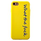 용 패턴 케이스 뒷면 커버 케이스 단어 / 문구 하드 PC 용 Apple 아이폰 7 플러스 / 아이폰 (7) / iPhone 6s Plus/6 Plus / iPhone 6s/6