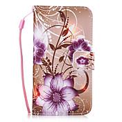 Für Hüllen Cover Geldbeutel Kreditkartenfächer mit Halterung Rückseitenabdeckung Hülle Blume Hart PU - Leder für SamsungS8 S8 Plus S7