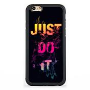 용 패턴 케이스 뒷면 커버 케이스 단어 / 문구 하드 알루미늄 Apple아이폰 7 플러스 / 아이폰 (7) / iPhone 6s Plus/6 Plus / iPhone 6s/6 / iPhone SE/5s/5 / iPhone 5c / iPhone