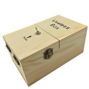 neje 나무 쓸모없는 완전히 조립 된 기계 상자 장난감 - 밝은 갈색