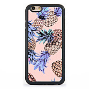용 패턴 케이스 뒷면 커버 케이스 과일 하드 알루미늄 Apple 아이폰 7 플러스 / 아이폰 (7) / iPhone 6s Plus/6 Plus / iPhone 6s/6 / iPhone SE/5s/5 / iPhone 5c / iPhone 4s/4
