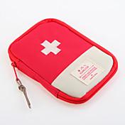 1개 여행 가방 여행용 약 상자/케이스 방수 먼지 방지 휴대용 용 여행용 보관함 여행용 휴대용 악세사리 옥스포드 의류-레드 블루