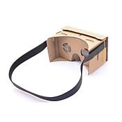 neje DIY 구글 판지 가상 현실 3D 안경은 4-7 인치 휴대폰 용 NFC와 머리띠