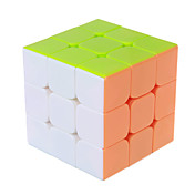 부드러운 속도 큐브 3*3*3 전문가 수준 매직 큐브 부드러운 스티커 안티 - 팝 조정 봄 ABS