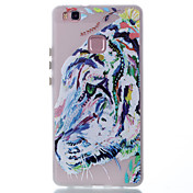For Huawei P9 Lite P8 Lite Case Cover Tiger Pattern Painted TPU Material Luminous Phone Case