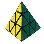 장난감 부드러운 속도 큐브 피라 밍크 스 전문가 수준 매직 큐브 블랙 페이드 부드러운 스티커 안티 - 팝 조정 봄 ABS