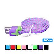 삼성 전자와 다른 전화 (모듬 색상)에 대한 1m V8 마이크로 USB 강력 나일론 국수 데이터 케이블
