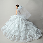 결혼식 드레스 에 대한 바비 인형 드레스 에 대한 여자의 인형 장난감