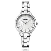 KEZZI 여성용 패션 시계 손목 시계 팔찌 시계 석영 일본 쿼츠 모조 다이아몬드 합금 밴드 캐쥬얼 우아한 럭셔리 실버 로즈 골드