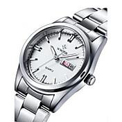 Mujer Reloj de Vestir Reloj de Moda Reloj de Pulsera Cuarzo Calendario Noctilucente Aleación Banda Encanto Blanco