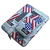 para macbook pro / aire 11.6 13.3 12 pulgadas con mangas bolsa simple cuaderno estilo de ocio paquete de cargador portátil bolsa patrón de
