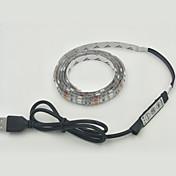 RGB의 controlle와 IP65 방수 1PCS 30smd 5050 RGB 스트립 조명 1m 직류 5V의 소비 전력 3.5W의 USB