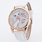 Mujer Reloj Deportivo Reloj de Vestir Reloj de Moda Reloj de Pulsera Cuarzo Esfera Grande Tejido Banda Encanto Múltiples ColoresBlanco
