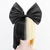 Mujer Pelucas sintéticas Sin Tapa Corto Medio Liso Negro Con flequillo Peluca de Halloween Peluca de carnaval Peluca de cosplay Las