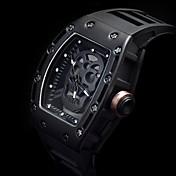 남성 스포츠 시계 스켈레톤 시계 패션 시계 손목 시계 독특한 창조적 인 시계 석영 야광 펑크 실리콘 밴드 빈티지 스컬 멋진 캐쥬얼 창의적 럭셔리 블랙