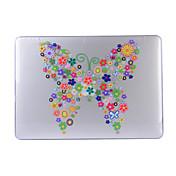 para el aire macbook 11,6 13,3 pro cubierta de la caja 13.3 retina con el patrón de flor pc cáscara protectora dura mate transparente