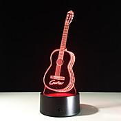 아이 친구 아크릴을위한 침실 테이블 램프와 같은 새로운 액션 피규어 7 색 기타 3D 영상 주도 야간 조명 최고의 선물