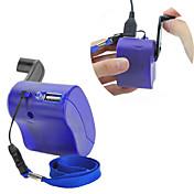 은 MP4 MP3를위한 USB 핸드 크랭크 수동 발전기 휴대 전화 충전기 비상 블루 pda-- 모바일