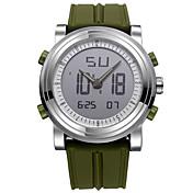SINOBI Hombre Reloj Deportivo Reloj digital Cuarzo Digital Resistente al Agua Cronómetro Noctilucente Resistente a los Golpes Silicona
