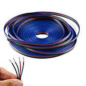 4 색 led 스트립 rgb에 대 한 20m rgb 연장 케이블 라인 5050 3528 코드 4pin