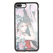 용 패턴 케이스 뒷면 커버 케이스 섹시 레이디 꽃장식 소프트 TPU 용 Apple 아이폰 7 플러스 아이폰 (7) iPhone 6s Plus iPhone 6 Plus iPhone 6s 아이폰 6