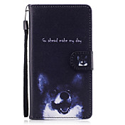 For Huawei P8 Lite (2017) P9 Lite Case Cover Dog Pattern Painted Card Stent PU Material Phone Case Mate 9 Honor 5C Honor 8 Honor 7