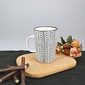 미니멀리즘 파티 드링크웨어, 340 ml 간단한 기하학적 패턴 재사용 가능 자기 차 누드 일상용 컵 티컵 머그컵