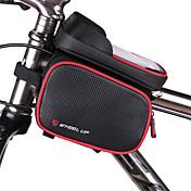 자전거 가방자전거 프레임 백 방수 방수 지퍼 착용할 수 있는 다기능 터치 스크린 싸이클 가방 PU 피혁 방수 재질 싸이클 백 Iphone 6/IPhone 6S/IPhone 7 사이클링