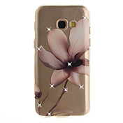 For Samsung Galaxy A3 A5 (2016) (2017) Case Cover Magnolia Flower Pattern HD Painted Drill TPU Material IMD Process High Penetration Phone Case