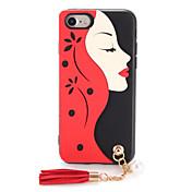제품 케이스 커버 패턴 DIY 뒷면 커버 케이스 섹시 레이디 소프트 TPU 용 Apple 아이폰 7 플러스 아이폰 (7) iPhone 6s Plus iPhone 6 Plus iPhone 6s 아이폰 6