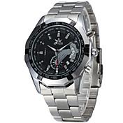 Hombre Reloj de Vestir Reloj de Moda Chino Cuarzo Calendario Resistente al Agua Aleación Banda Plata Blanco Negro