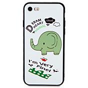 사과 아이폰 7 플러스 7 커버 패턴 뒷면 커버 케이스 단어 구문 만화 코끼리 부드러운 tpu 6s 플러스 6 플러스 6 6s