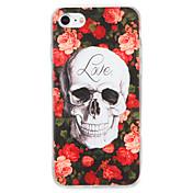 Para el caso de la contraportada del patrón de la cubierta del caso del iphone 7 7plus de la manzana PC dura 6s del cráneo de la flor más