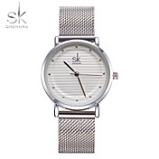 SK Mujer Reloj de Vestir Reloj de Moda Reloj Pulsera Reloj creativo único Chino Cuarzo Resistente al Agua Resistente a los Golpes Metal