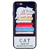 제품 케이스 커버 패턴 뒷면 커버 케이스 고양이 소프트 TPU 용 Apple 아이폰 7 플러스 아이폰 (7) iPhone 6s Plus iPhone 6 Plus iPhone 6s 아이폰 6