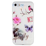 Caso para el iphone de la manzana 7 más la cubierta 7 cubierta en relieve patrón caso de la contraportada animal de la flor árbol suave