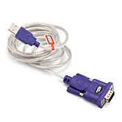 USB 2.0 Cable adaptador, USB 2.0 to RS232 Cable adaptador Macho - Macho 1,5 m (5 pies)
